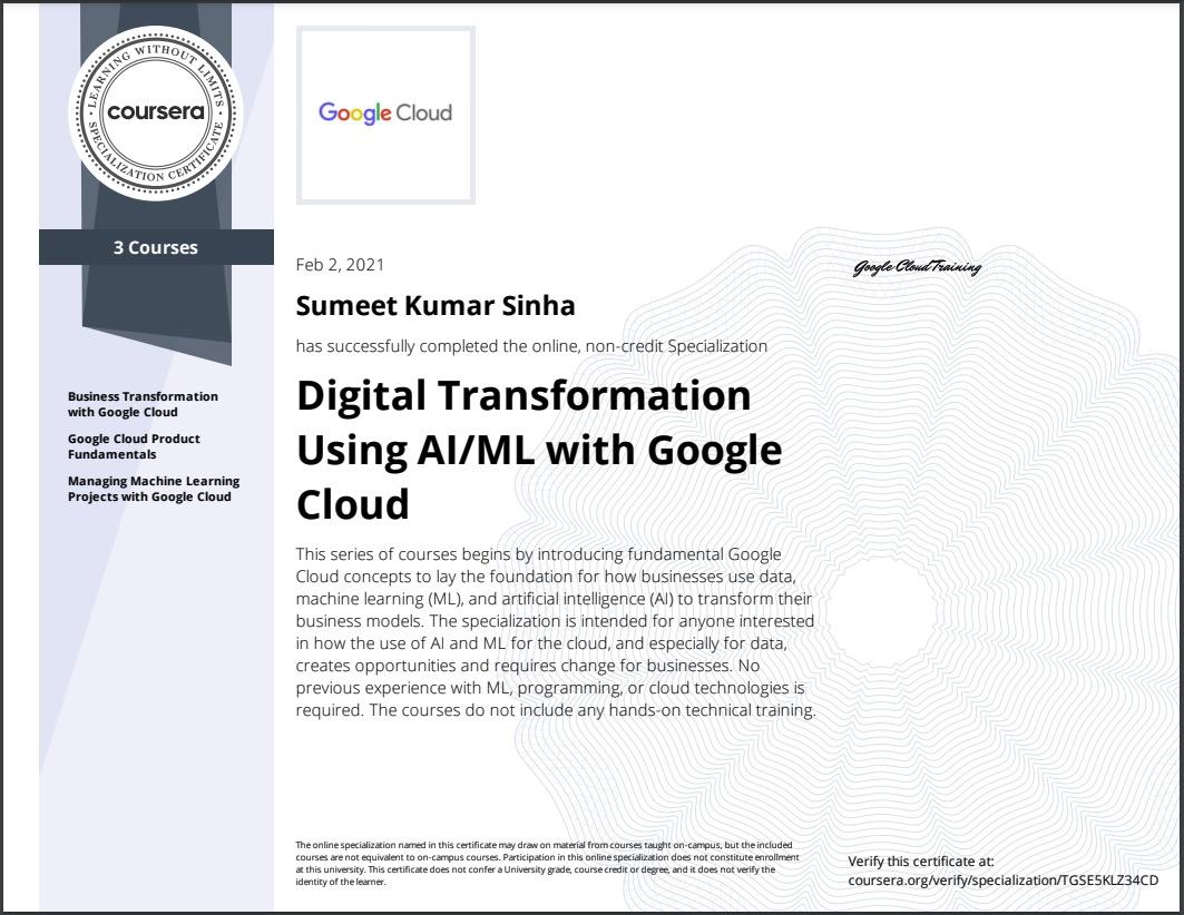 Digital-Transformation-Using-AIML-with-Google-Cloud